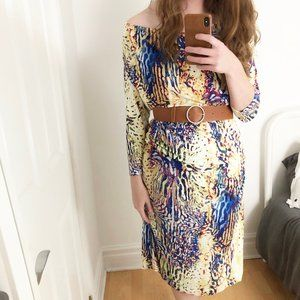 Designer Barbara Schwarzer Psychedelic Midi Dress